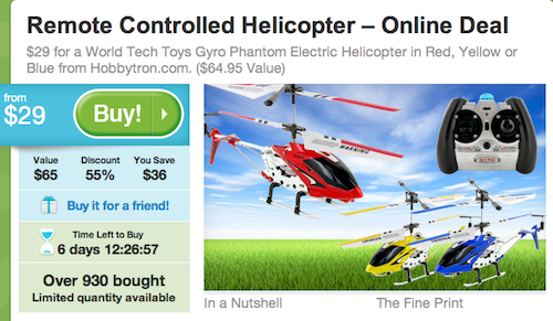 Groupon Helicopter
